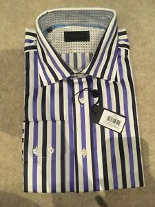 Duchamp River Stripe Shirt. Size 17.5