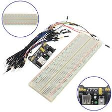 MB-102 830 Point Solderless Breadboard PCB+Power Supply+65pcs Jump Cable Wire #@