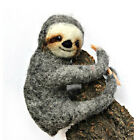 OOAK handmade felted sloth, artist wool miniature, 4 ¾in.
