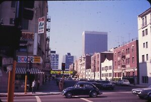 Original 35mm Slide - Normandie & 8th Los Angeles CA 1971 Liquor Store