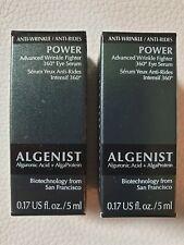 Algenist Power Advanced Wrinkle Fighter 360 Eye Serum New & Boxed 2 x 5ml = 10ml