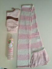 M&s skinny rose et blanc foulard rose Chaussettes et Kiwi pied soie spray