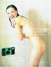 Publicité Advertising 087  1998  FujiFilm  appareil photo Quicksnap          nue