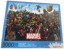 "New Marvel Cast 3000 Piece Jigsaw Puzzle 32"" x 45"" Captain America, Hulk, Thor"