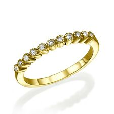 Ring 14K Gold, Yellow Gold. With 0.09 carat Diamonds