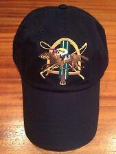 NWT POLO RALPH LAUREN  BLACK COTTON CHINO JOCKEY RACEHORSE CAP 6 PANEL STRAP HAT