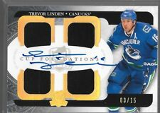 11/12 The Cup Foundations Auto Jersey Trevor Linden /15 CF-TL Canucks