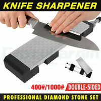 Double Sided Diamond Sharpening Stone Grind Kitchen Knife Sharpener Whetstone