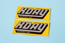 KDAY radio bumper stickers yellow old school lowrider oldies