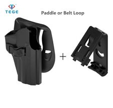 TEGE Holster for GLOCK 19(X)/23/32 Gen 1-5 Open Type Belt clip and Paddle BLK RH