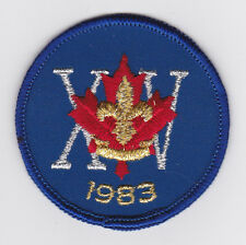 1983 World Scout Jamboree CANADA / CANADIAN SCOUTS Contingent OFFICIAL CAP Patch