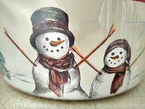 3 St Nicholas BPA-Free Nesting Christmas Containers w/lids Snowman Snowflake NEW