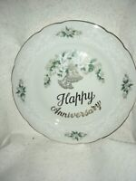 Lefton Anniversary Plate With Wedding Bells
