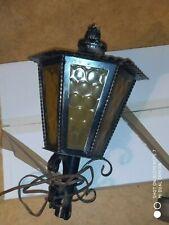 ancienne et grande lanterne suspension extérieure, lampe, déco, vintage