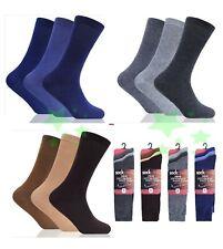 6 12 Pairs Bigfoot Lycra Cotton Rich Mens Socks UK 10-13 Size Every Day Socks