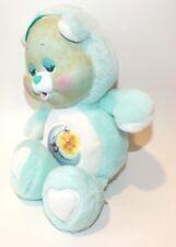 Vintage Care Bear BedTime Mint Green Baby Sun Moon Flocked Face 1986 Kenner