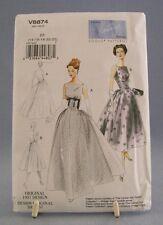 Vogue V8874 Pattern Misses Vintage Model 1957 Design Size 14-22 Uncut