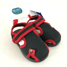 Bum Equipment Toddler Boys Sandals Closed Toe Fabric Black Red Size 4