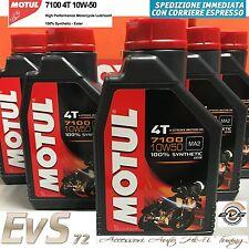 5 Litri OLIO MOTORE Motul 7100 10W50 Moto 4 tempi 100% Sintetico ESTERE