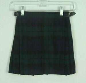 Scotch Classics Youth Kilt Size Small Blackwatch Plaid Tartan Wool Black Watch