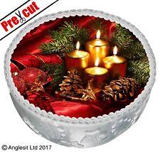 "PRE-CUT CHRISTMAS DECORATION CAKE C VIII. TOPPER 7""/18CM EDIBLE WAFER DECORATION"