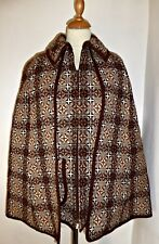 VINTAGE 60S WELSH WOOL CAPE CLOAK COAT JACKET MEDIUM