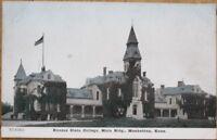 Manhattan, KS 1910 Postcard: Kansas State College, Main Building - Kans