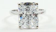 5.30CT Radiant Brilliant Cut  VVS1 Engagement Wedding Solitaire Ring 14K W Gold