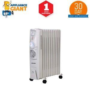 Heller HOCH11FT 2400W 11 Fin Electric Oil Heater w/ Timer