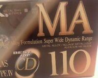 TDK MA-110 Metal Audio Cassette Tape  Made in Japan