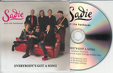 SADIE & THE HOTHEADS Everybody's Got A Song UK promo test CD Elizabeth McGovern