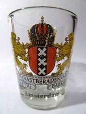 AMSTERDAM NETHERLANDS COAT OF ARMS SHOT GLASS SHOTGLASS