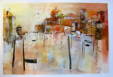 "NAGIB KARSAN ""GRAND CANAL VENICE II"" Hand Signed Limited Edition Giclee Art"