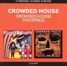 CROWDED HOUSE SELF TITLED & WOODFACE 2 CD NEW