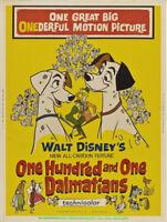 101 DALMATIANS MOVIE POSTER Unfolded 30x40 DISNEY Animation Rare Billboard Size