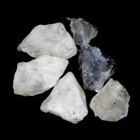 109.40Cts100%Natural Blue Rainbow Moonstone Rough Lot Loose Gemstone