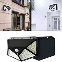 Luce Solare faretto lampada 100 LED parete sensore movimento PIR per esterni