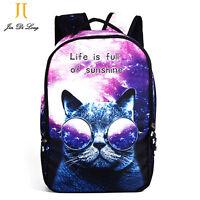 Women Large Animal Backpack Cat Dog Print School Bags for Girls Laptop Book Bag