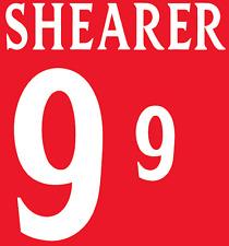 England Shearer 2002 Nameset Shirt Soccer Number Letter Heat Print Football A