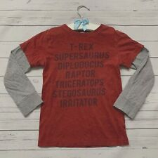 Boys 4 Years - Long Sleeved T-shirt - NEXT Dinosaurs Red Grey T-Rex