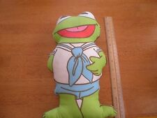 "Kermit the Frog vintage 1985 Muppets plush doll 11.5"" HTF"
