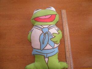 "Kermit the Frog vintage 1985 Muppets plush doll 11.5"" HTF"