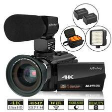 Video Camera 4K Camcorder AiTechny Ultra HD Digital WiFi 48MP 16X Zoom...