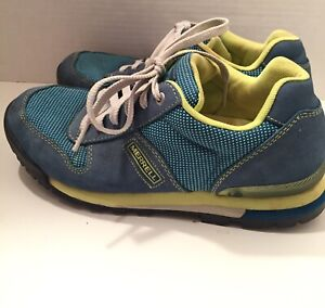 Womens Merrell Solo Origins Blue Green Shoes Lace Up Sneakers Size 7