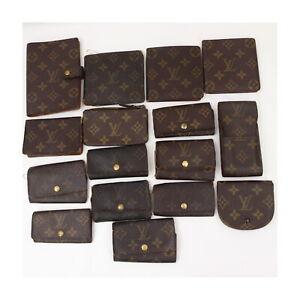 LouisVuitton Monogram Wallet Key/Cigarette/Card Case Diary Cover 16pc set 522367