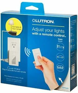 NEW - Lutron Caseta Wireless - Plug-in Lamp Dimmer with Remote -P-PKG1P-WH