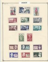 france stamps  page mounted mint & used ref 17481