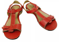 Clarks (15764) Red Patent T Strap Open Toe Sandal- Size 9