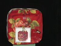 222 Fifth Belize Bread & Butter Appetizer Plate Set of Four