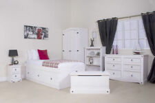Solid Wood Bedroom Furniture Sets with Wardrobe 6 Pieces